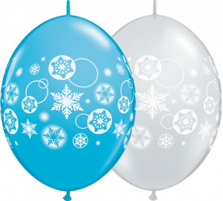 12'' Snowflake and Circle Quick Link Blue / Silver X50